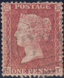 101907 - PL.46 MATCHED PAIR RED-BROWN ON BLUED PAPER (SG29) AND ROSE-RED ON WHITE PAPER LETTERED RL.