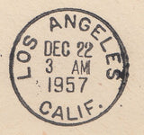 102397 - 1957 MAIL BIRMINGHAM TO USA/2/6D CASTLE.