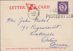 102414 - 1958 LETTER CARD LIVERPOOL TO CANADA.