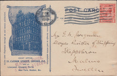 102452 - 1918 MAIL GLASGOW TO SWEDEN/ADVERTISING.