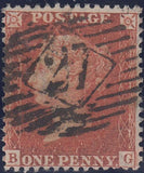 102485 - 1856/1857 PL.47 USED MATCH PAIR LETTERED BG ON BLUED PAPER (SG29) AND WHITE PAPER (SG40).