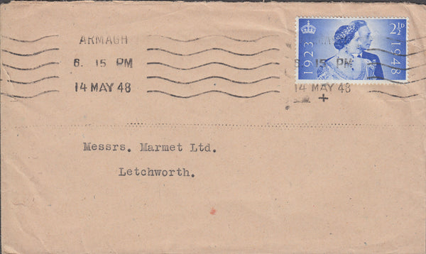 102607 - 1948 MAIL ARMAGH (NORTHERN IRELAND) TO LETCHWORTH.