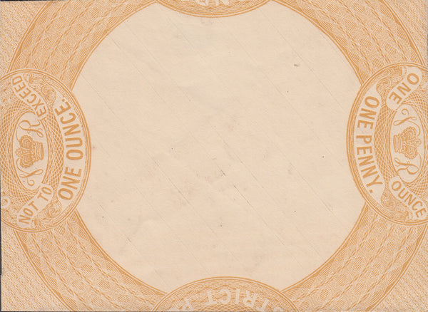 102695 - 1839 JOHN DICKINSON 1D ENVELOPE ESSAY IN YELLOW-BUFF.