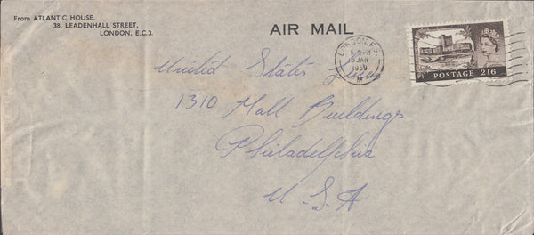 102922 - 1959 MAIL LONDON TO USA.
