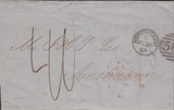103182 - 1864 STAMPLESS LETTER NOTTINGHAM TO AMSTERDAM.