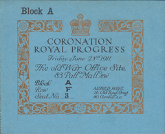 "103323 - 1911 INVITATION ""CORONATION ROYAL PROGRESS""."