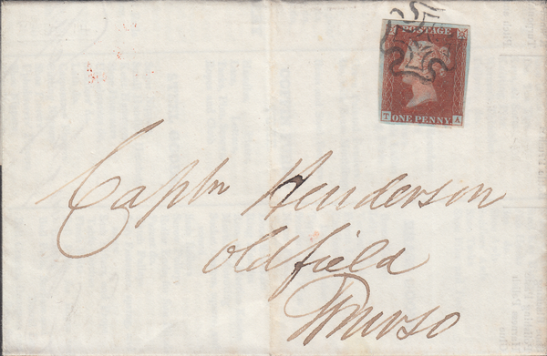 103334 - EDINBURGH M.C. (SPEC B1ty) ON COVER/SUPERB PRINTED CONTENT/PL.14 (TA) (SG8).
