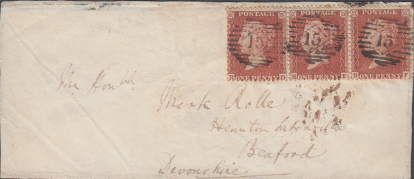 103345 - 1856 CRIMEAN MAIL CRIMEA TO BEAFORD, DEVON/PL.11 (SG24) (RD RE RF).