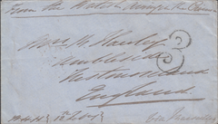 "103351 - 1855 UNPAID MAIL CRIMEA TO AMBLESIDE/""3"" CHARGE MARK."