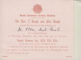 103397 - 1891 MAIL USED IN RETFORD WITH INVITATION TO ATTEND A CONVERSAZIONE.