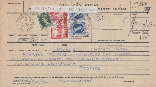 103696 - 1964 TELEGRAM/5S CASTLE.