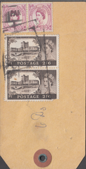 103734 - CIRCA 1960 PARCEL TAG LIVERPOOL TO SHEFFIELD/2/6 CASTLES.