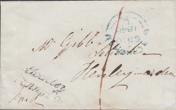 "103860 - 1848 ""HOCKLEY/PENNY POST"" HAND STAMP (WA178)."