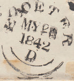 "103877 - 1842 PLYMOUTH ""COMMON"" TYPE M.C./""C"" RECEIVER'S HAND STAMP OF STONEHOUSE."