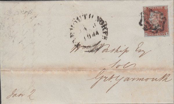 103889 - THE DISTINCTIVE MALTESE CROSS OF NORWICH ON COVER (SPEC B1ts CAT. £1800).
