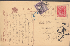 103945 - 1922 UNPAID MAIL FROM KUALA LUMPUR TO LIVERPOOL WITH STRAITS SETTLEMENTS STAMP USED IN ERROR.