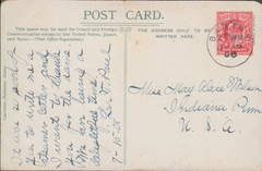 103949 - 1906 POST CARD BANTRY TO THE USA.