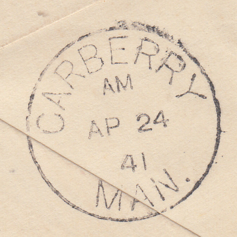 104079 - 1944 ENVELOPE NOTTINGHAM TO CANADA/2/6 BROWN (SG476).