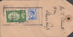 104132 - 1955 PARCEL TAG KELSO TO WINCHESTER/2/6 YELLOW-GREEN (SG509).