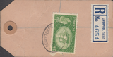 104135 - CIRCA 1955 BANKERS HVP PARCEL TAG/2/6 YELLOW-GREEN (SG509).