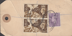 104142 - 1948 KGVI BANKERS PARCEL TAG/1S OLYMPIC GAMES (SG498).