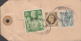 104148 - 1949 KGVI BANKERS PARCEL TAG/2/6 YELLOW-GREEN (SG476b).