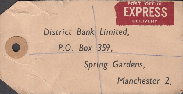 104154 - 1949 KGVI BANKERS PARCEL TAG/2/6 YELLOW-GREEN (SG476b).