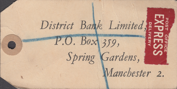 104159 - KGVI BANKERS PARCEL TAG/2/6 YELLOW-GREEN (SG476b).