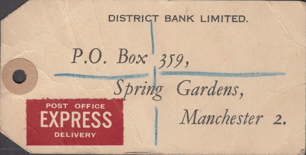 104162 - 1948 KGVI BANKERS PARCEL TAG/2/6 YELLOW-GREEN (SG476b).