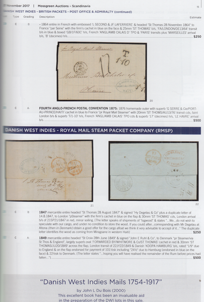104183 - SCANDINAVIA FEATURING HANS VON STROKIRCH'S DANISH WEST INDIES POSTAL HISTORY AND ICELAND POSTMARKS AND STATIONERY.