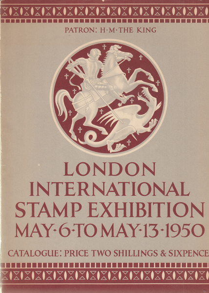 104199 - LONDON INTERNATIONAL STAMP EXHIBITION MAY 6 TO MAY 13 1950.
