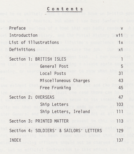 104235 - 'BRITISH POSTAL RATES 1635 TO 1839' BY SANFORD AND SALT.