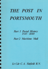 104239 - THE POST IN PORTSMOUTH PARTS 1 AND 2 BY LT. CDR C. A. SINFIELD.