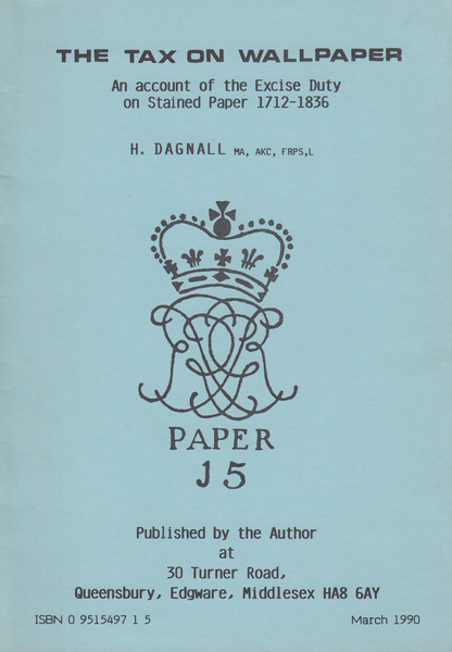104310 - THE TAX ON WALL PAPER BY H. DAGNALL.