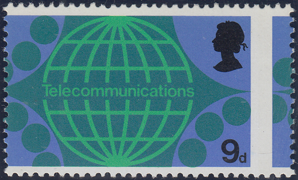 104549 - 1969 9D POST OFFICE TECHNOLOGY (SG809) MISPERFORATION.