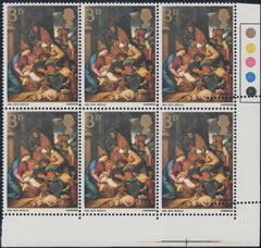 104550 - 1967 3D CHRISTMAS (SG756) DOUBLE STRIKE OF PERFORATION COMB.