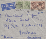 104772 - 1936 MAIL LONDON TO URUGUAY 2/6D SEAHORSE (SG450).