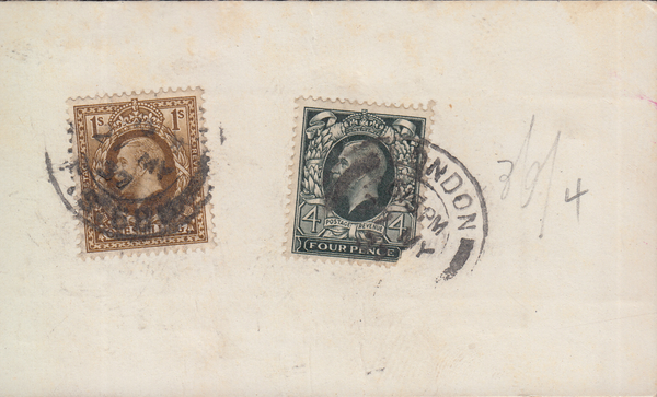 104937 - 1937 PARCEL TAG SEAHORSES 5S (SG451) AND 10S (SG452) X 3.