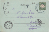 105152 - 1898 UNDERPAID MAIL GERMANY TO MANCHESTER.