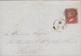 105540 - PL.5 (CL CONSTANT VARIETY MISPLACED LETTERS AND MARK IN POSTAGE) S.C.16 (SG21 SPEC C4g) ON COVER.
