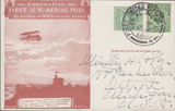 105664 - 1911 FIRST OFFICIAL U.K. AERIAL POST/LONDON POST CARD IN RED-BROWN TO U.S.A.