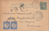 105919 - 1908 UNDERPAID MAIL LONDON TO HOLLAND.