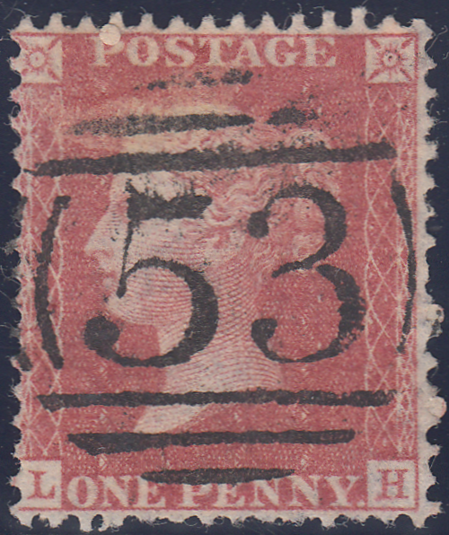 106203 - 1856/7 DIE 2 1D PL.47 MATCHED PAIR BLUED PAPER (SG29) AND WHITE PAPER (SG40) LETTERED LH.