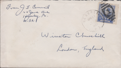 106274 - 1941 MAIL USA ADDRESSED TO WINSTON CHURCHILL.
