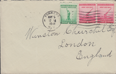 106335 - 1941 MAIL USA ADDRESSED TO WINSTON CHURCHILL.