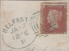 106388 - BELFAST SPOON ENGLISH TYPE SMALL b IN BLUE (RA11)(SPEC C1vb)/PL.11 (MG)(SG26).