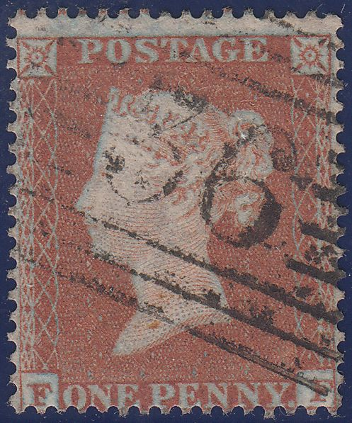 106863 - 1853-4 DIE 1 PL.163 MATCHED PAIR 1D IMPERF (SG8) AND 1D PERF (SG17) LETTERED FF.