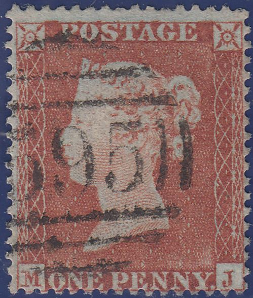 106923 -1852-4 DIE 1 PL.157 MJ - MAJOR RE-ENTRY MATCHED PAIR 1D IMPERF (SG8) AND 1D PERF (SG17).