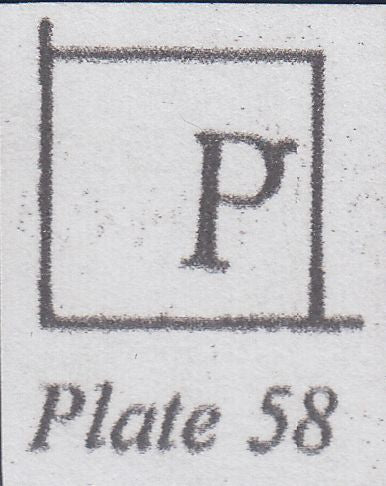 107239 - 1857/8 DIE 2 PL.58 MATCHED PAIR OF PERF 16 (SG36) AND PERF 14 (SG40) LETTERED PK WITH CONSTANT VARIETY.