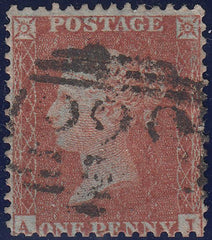 107436 - PL.3 (AI) DEEP RED-BROWN ON VERY BLUED PAPER (SG24a)/MISSING IMPRIMATUR LETTERING.